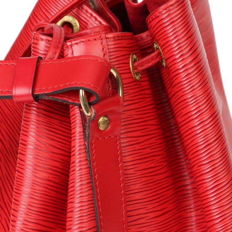 Louis Vuitton Red Epi Leather Vintage Petit Noé For Sale 3