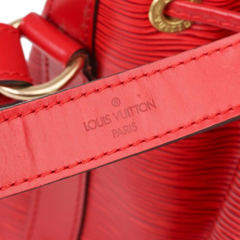 Louis Vuitton Red Epi Leather Vintage Petit Noé For Sale 4