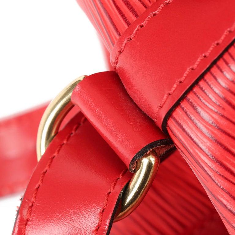 Louis Vuitton Red Epi Leather Vintage Petit Noé For Sale 5