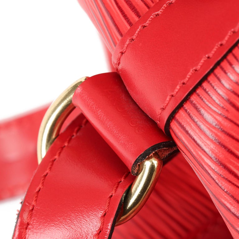 Louis Vuitton Red Epi Leather Vintage Petit Noé 5