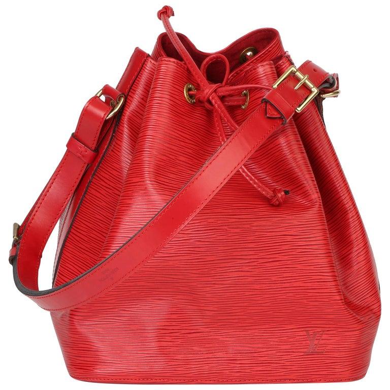 Louis Vuitton Red Epi Leather Vintage Petit Noé For Sale
