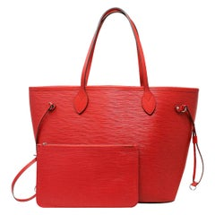 Louis Vuitton Red Epi Neverfull MM Handbag