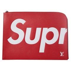 Louis Vuitton Red Epi Pochette Jour bag