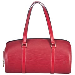 Louis Vuitton Red Epi Soufflot