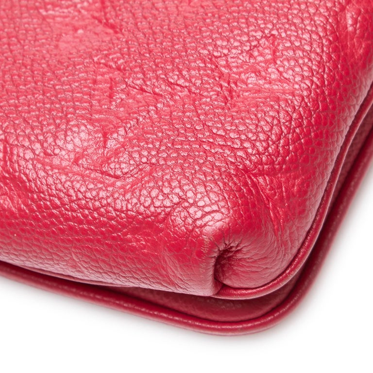 Louis Vuitton Red  Leather Empreinte Twice Bag France w/ Dust Bag For Sale 8