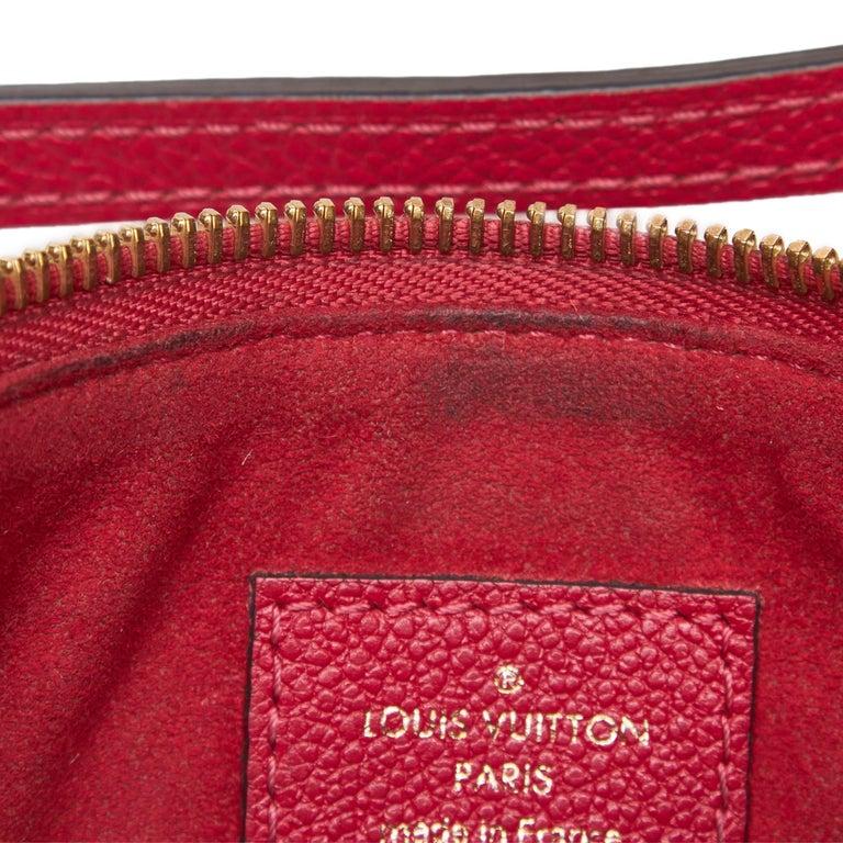 Louis Vuitton Red  Leather Empreinte Twice Bag France w/ Dust Bag For Sale 3