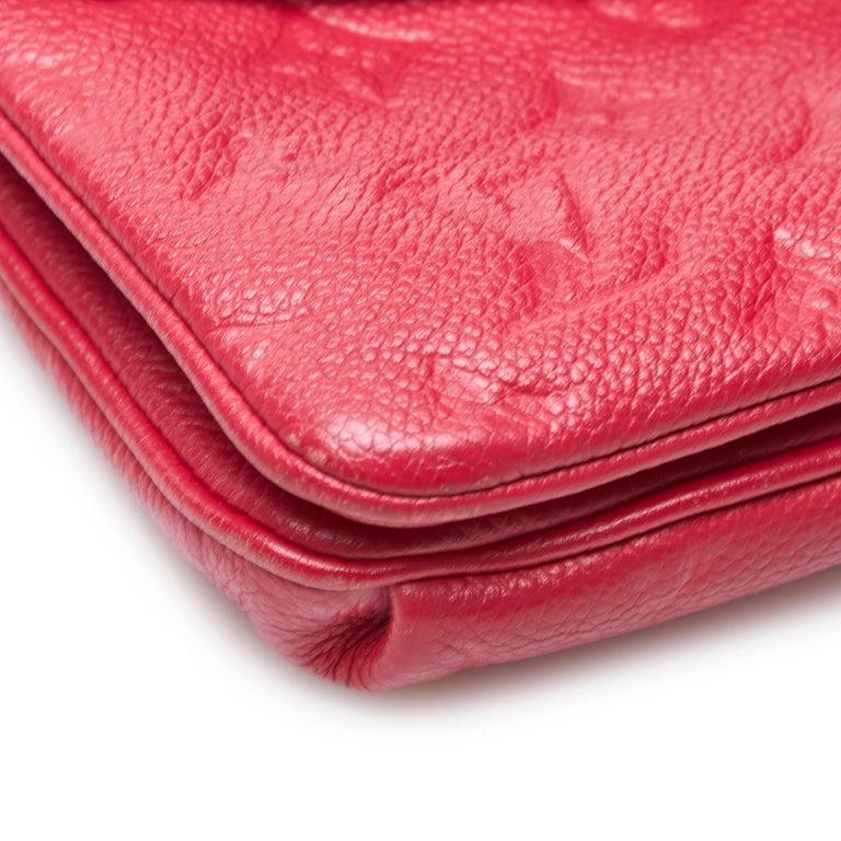 Louis Vuitton Red  Leather Empreinte Twice Bag France w/ Dust Bag For Sale 5