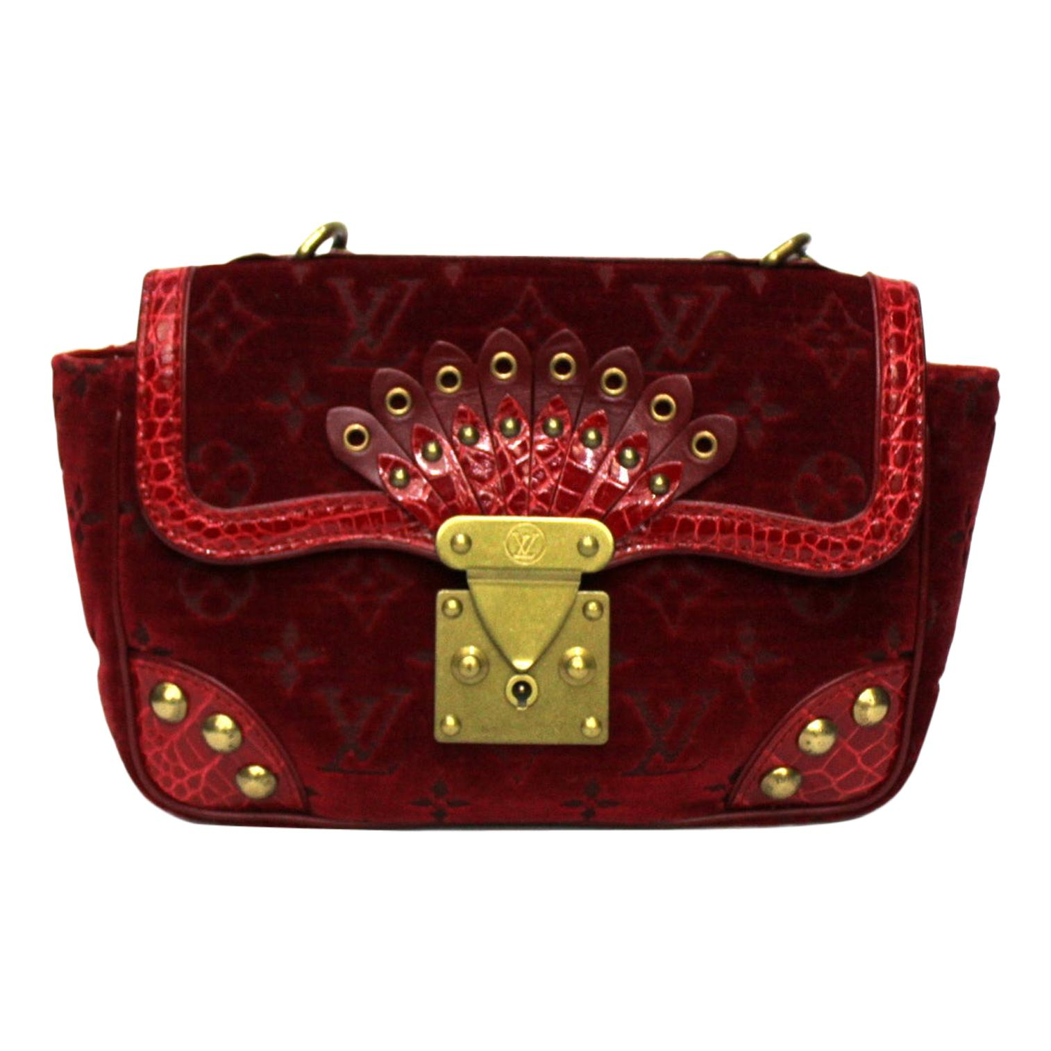 Louis Vuitton Red Leather Irvine Bag