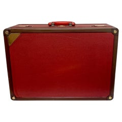 Louis Vuitton Red Leather Le Challenge 'Americas Cup' Suitcase, 1987