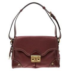 Louis Vuitton Red Leather Shoulder Bag