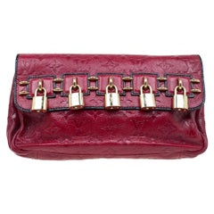 Louis Vuitton Red Monogram Leather My Deer Enigme Clutch