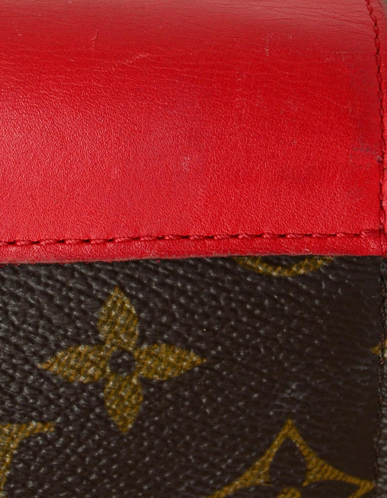 Louis Vuitton Red Monogram Leather Tribal Mask Wallet For Sale 4