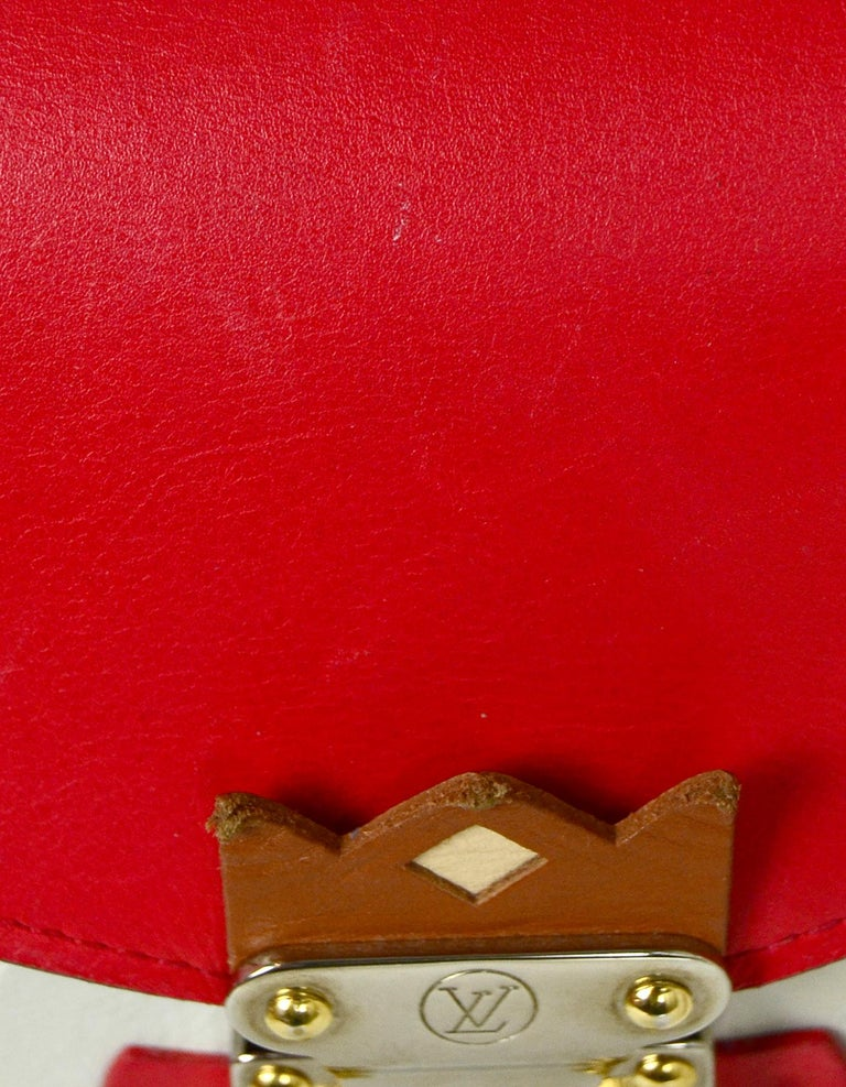 Louis Vuitton Red Monogram Leather Tribal Mask Wallet For Sale 5