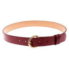 Louis Vuitton Red Monogram Vernis Belt 90CM