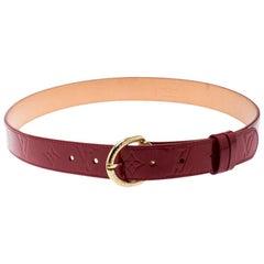 Louis Vuitton Red Monogram Vernis Belt 90CM