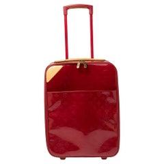 Louis Vuitton Red Monogram Vernis Pegase 45 Luggage