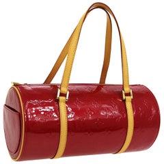Louis Vuitton Red Patent Leather Small Top Handle Satchel Pochette Shoulder Bag