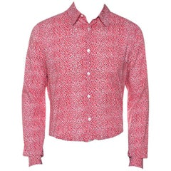 Louis Vuitton Red Printed Cotton Long Sleeve Shirt M