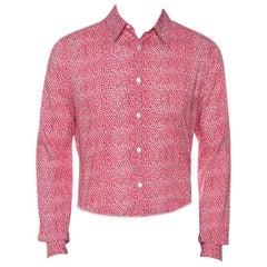 Louis Vuitton Red Printed Cotton Long Sleeve Shirt M