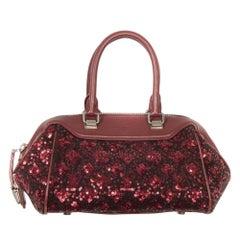 Louis Vuitton Red Sunshine Sequin Expressed Baby Speedy