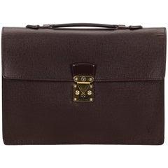 Louis Vuitton Red Taiga Serviette Kourad Briefcase