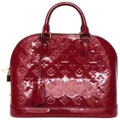 Louis Vuitton Red Vernice Alma Bag
