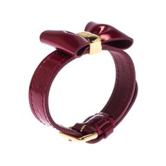 Louis Vuitton Red Vernis Monogram Leather Favorite Bow Bracelet