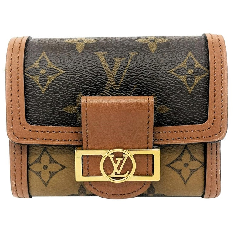Louis Vuitton Reverse Monogram Dauphine Compact Wallet For Sale
