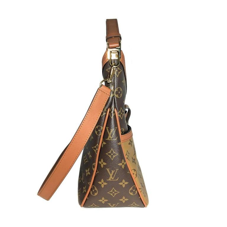 Brown Louis Vuitton Reverse Monogram Dauphine Hobo For Sale