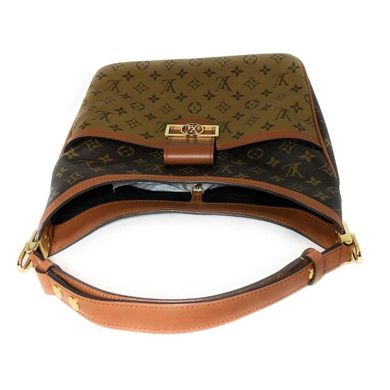 Louis Vuitton Reverse Monogram Dauphine Hobo For Sale 1