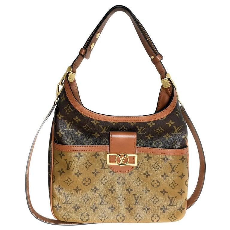 Louis Vuitton Reverse Monogram Dauphine Hobo For Sale
