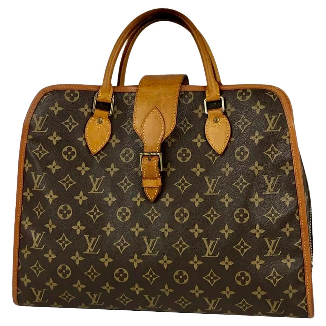 LOUIS VUITTON   Rivoli Brown Vintage Monogram Business Bag/Briefcase Unisex