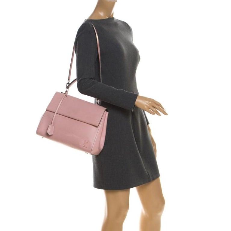 Beige Louis Vuitton Rose Ballerine Epi Leather Cluny MM Bag