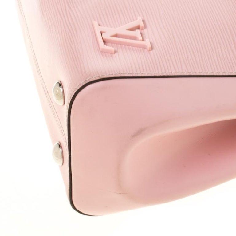 Louis Vuitton Rose Ballerine Epi Leather Cluny MM Bag 4