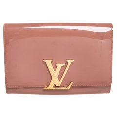 Louis Vuitton Rose Florentine Patent Leather Louise EW Clutch