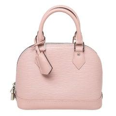Louis Vuitton Rose Nacre Epi Leather Alma BB Bag