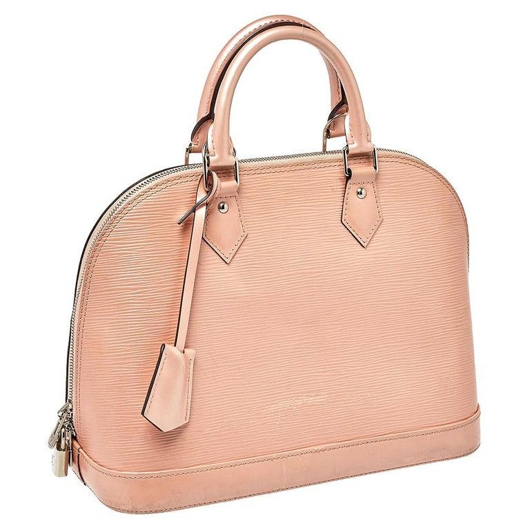 Louis Vuitton Rose Nacre Epi Leather Alma PM Bag 5