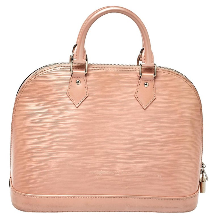 Orange Louis Vuitton Rose Nacre Epi Leather Alma PM Bag