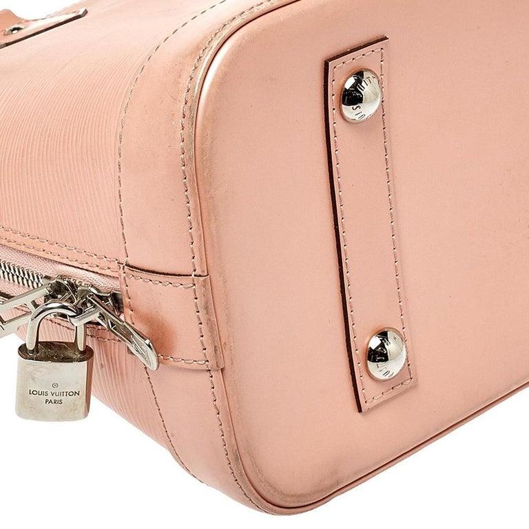 Women's Louis Vuitton Rose Nacre Epi Leather Alma PM Bag