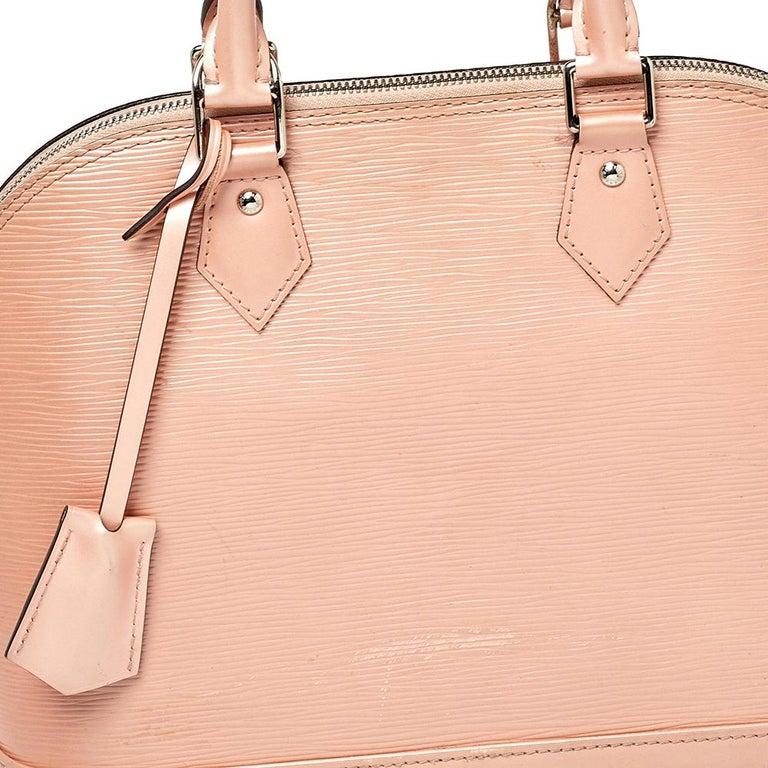 Louis Vuitton Rose Nacre Epi Leather Alma PM Bag 4
