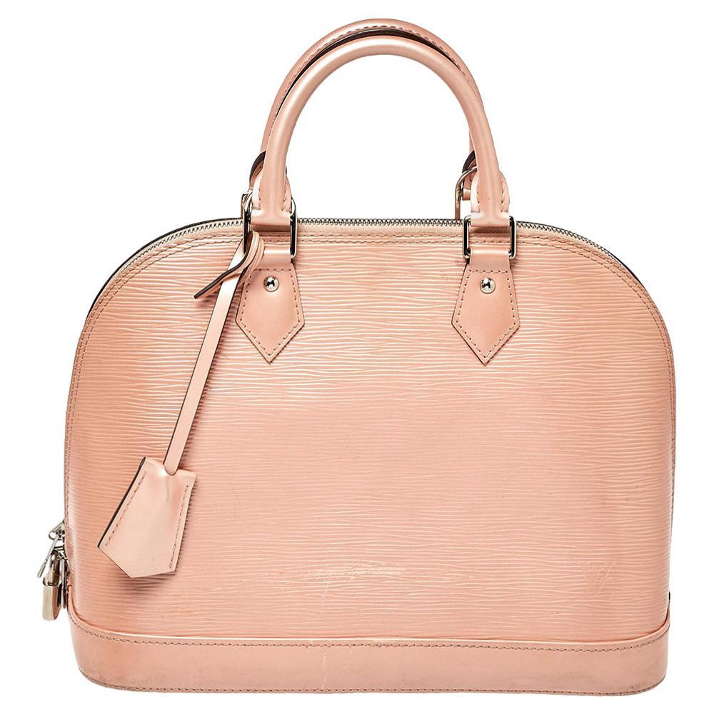 Louis Vuitton Rose Nacre Epi Leather Alma PM Bag