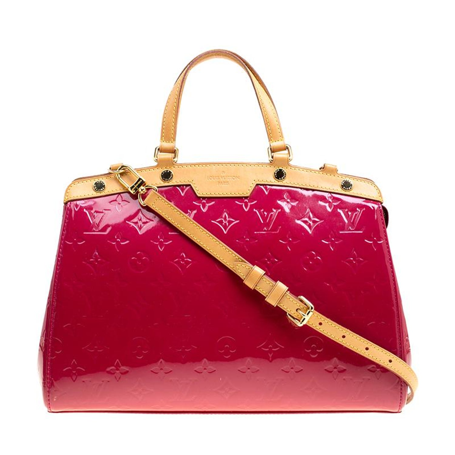 e97e139c3cb3 Louis Vuitton Rose Pop Monogram Vernis Brea MM Bag For Sale at 1stdibs