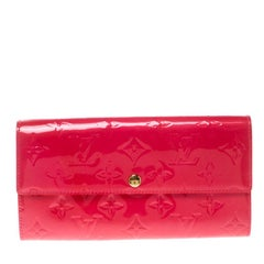 Louis Vuitton Rose Pop Monogram Vernis Sarah Wallet