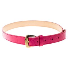 Louis Vuitton Rose Pop Vernis Belt 80cm