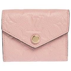 Louis Vuitton Rose Poudre Monogram Empreinte Leather Zoe Wallet
