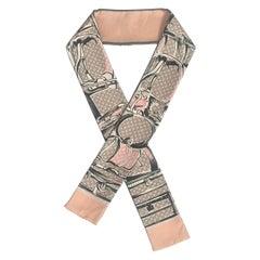 Louis Vuitton Rose Poudre Monogram Trunks Bandeau Silk Scarf