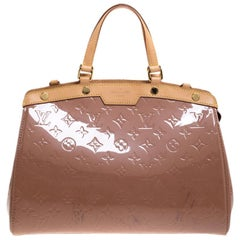 Louis Vuitton Rose Velours Monogram Vernis Brea MM Bag