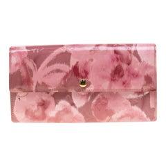 Louis Vuitton Rose Velours Monogram Vernis Ikat Limited Edition Sarah Wallet