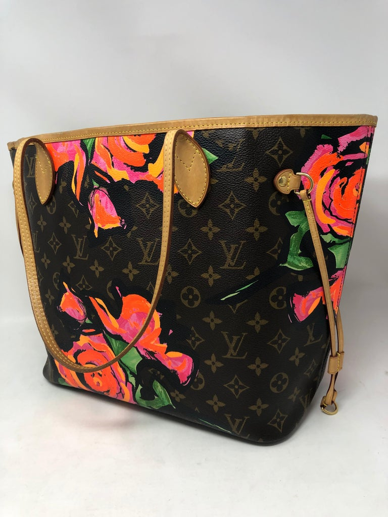 7ebb4ebfff7c Women s or Men s Louis Vuitton Roses Stephen Sprouse Neverfull For Sale