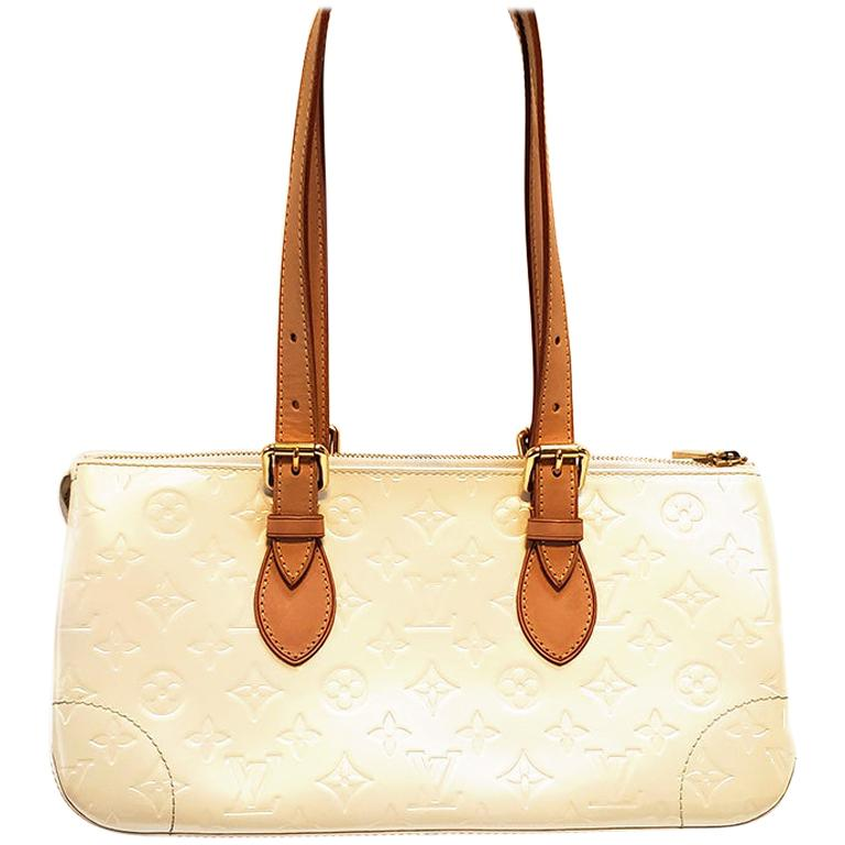Louis Vuitton Rosewood Avenue Pearl Vernis Monogram Leather Shoulder Bag